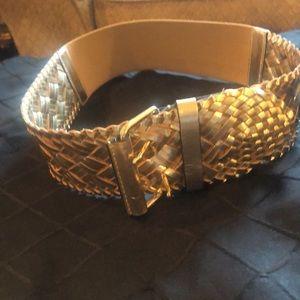 BCBG MAX gold belt